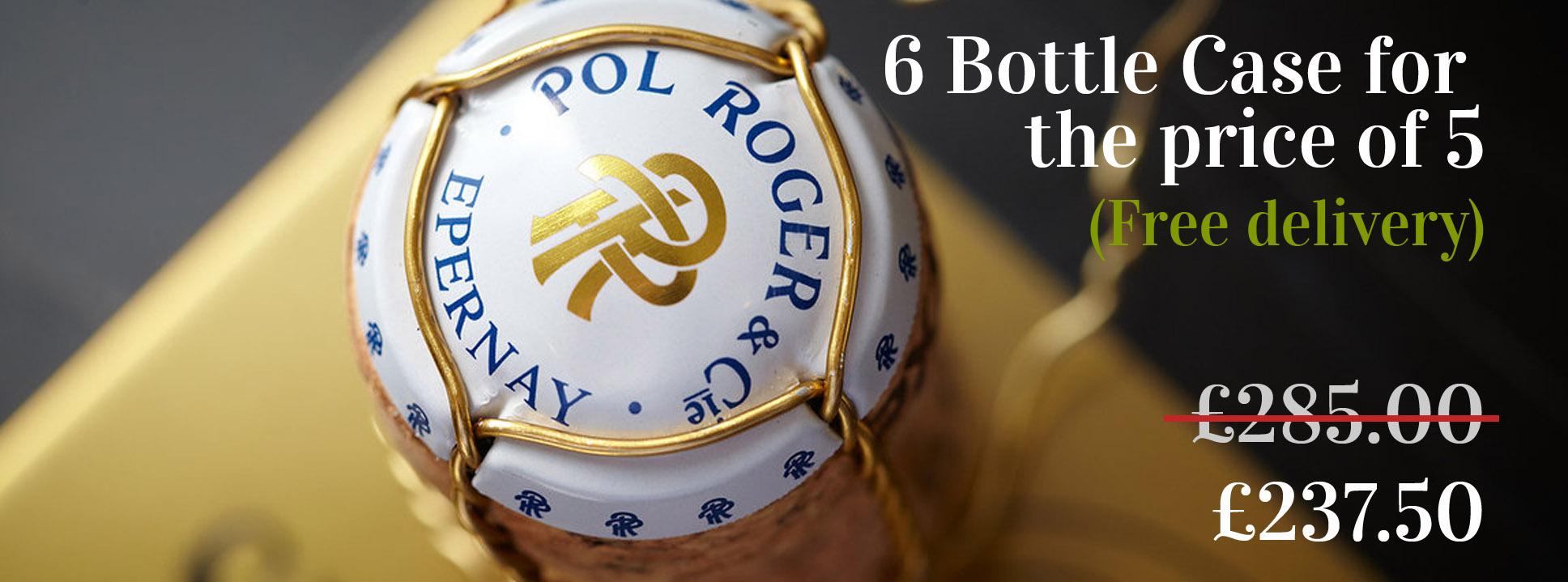 Pol Roger Offer - 6 bottle case for the price of 5 bottles